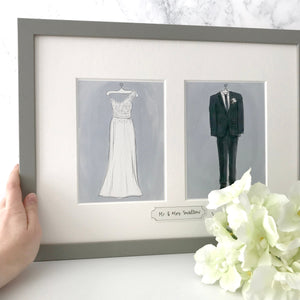 Wedding Day Outfit Illustration