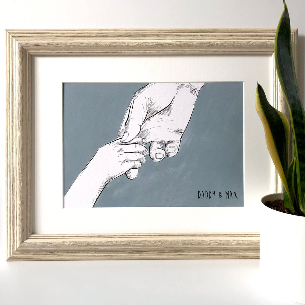Daddy And Me 'Holding Hands' Print
