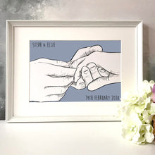 Personalised 'Hand In Marriage' Print