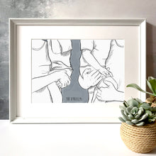 Family Of Four 'Cuddles' Print