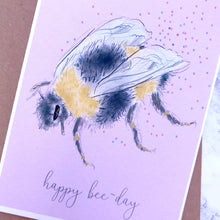 Happy 'Bee-Day' Birthday Card - Bumblebee Birthday Card