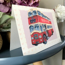 Personalised Wedding Bus Congratulations Card