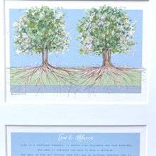 "Personalised ""Love is a Temporary Madness"" Wedding Reading and Tree Print from 'Captain Correlli's Mandolin'"