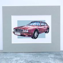 Personalised Classic Jaguar Car Print