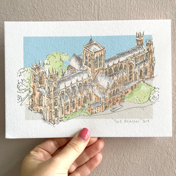 Personalised York Minster Print