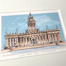 Personalised Leeds Town Hall Print