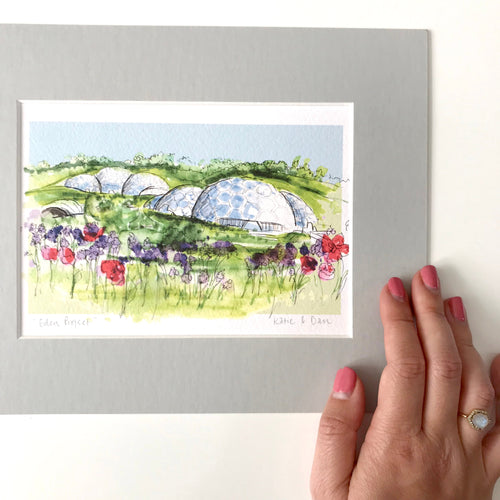 Personalised Eden Project Cornwall Print