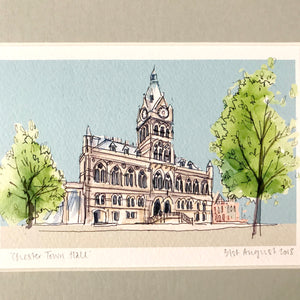 Personalised Chester Town Hall Print