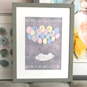 "Personalised ""Welcome to the World Little One"" Print"