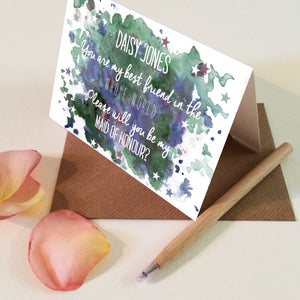 "Personalised ""Will you be my Maid of Honour?"" Maid of Honour Card"