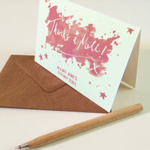 Personalised 'Thanks a Million' Card