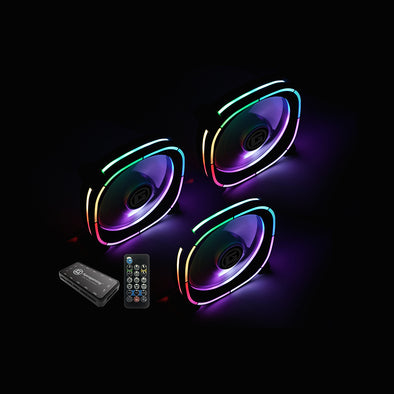 Apexgaming A-Cool Series, Addressable RGB Cooling Fan AC-120FD (3-pack including RGB controller)