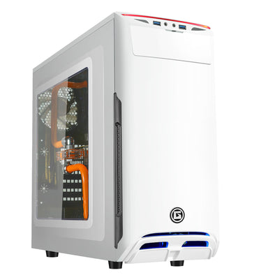 Apexgaming A2 ATX Mid Tower Case - White Edition