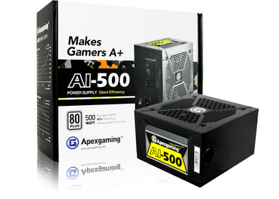 Apexgaming AI-500 500 Watt 80 Plus Power Supply copy