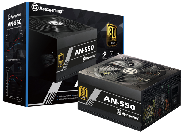 Apexgaming AN-550 550Watt 80 Plus Gold Power Supply