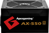 Apexgaming AX-550 550Watt 80PLUS Bronze Power Supply