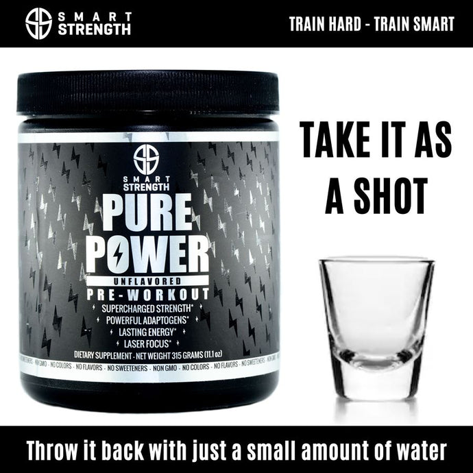 How to take Pure Power Premium Natural Pre-Workout as a shot