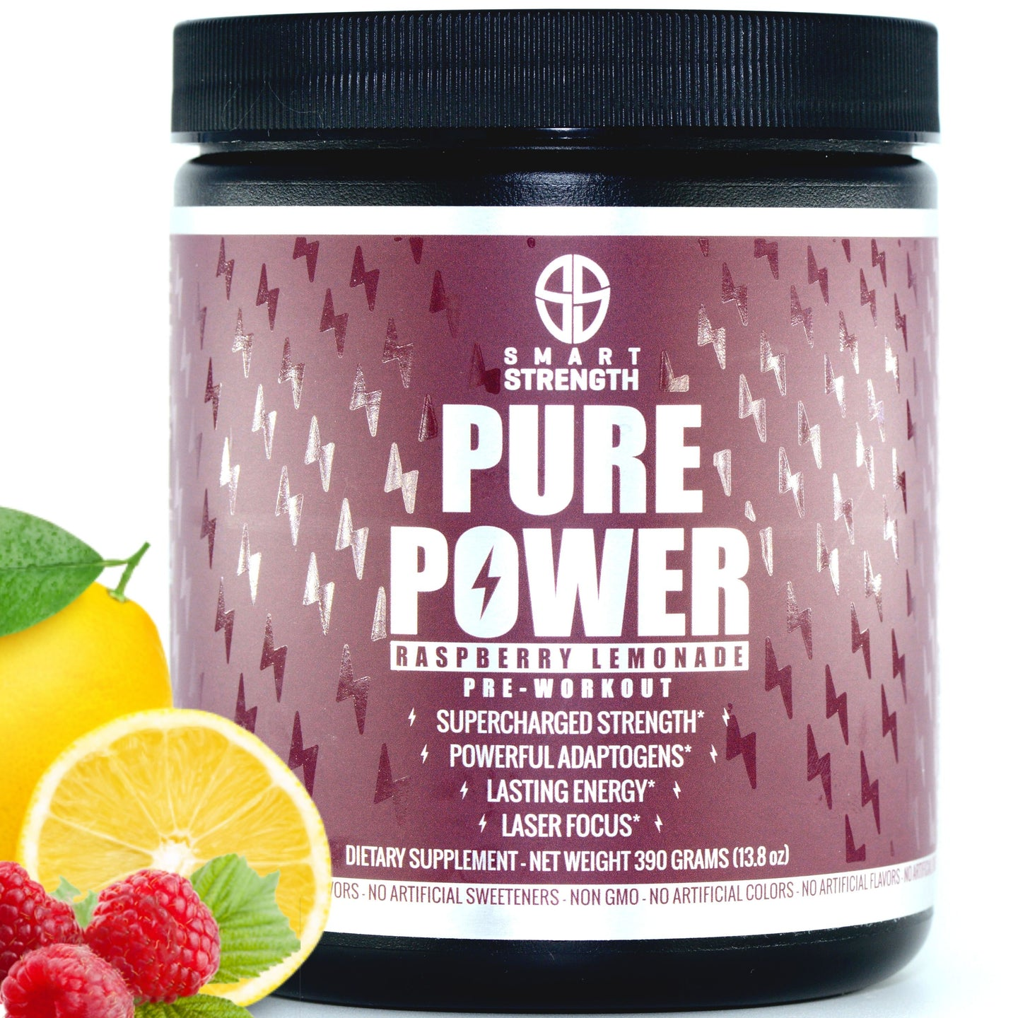 PURE POWER NATURAL PRE WORKOUT - 390 grams (13.8 oz) - NEW STOCK