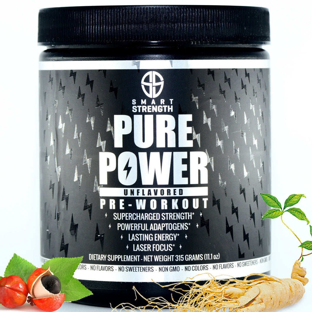 PURE POWER PreWorkout (Unflavored) - 315 grams (11.1 oz) NEW STOCK