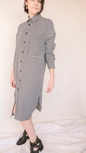 Houndstooth Dress Large Pattern