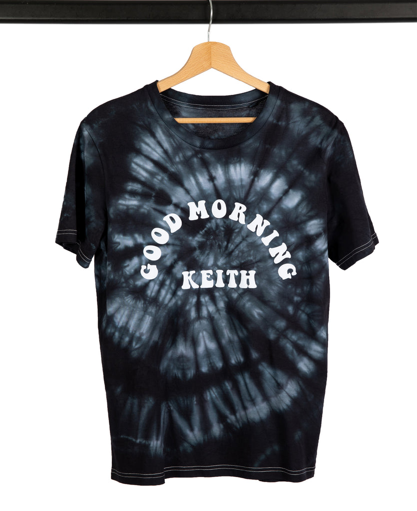 Good Morning Keith Black Tie And Dye Unisex Keith Tee