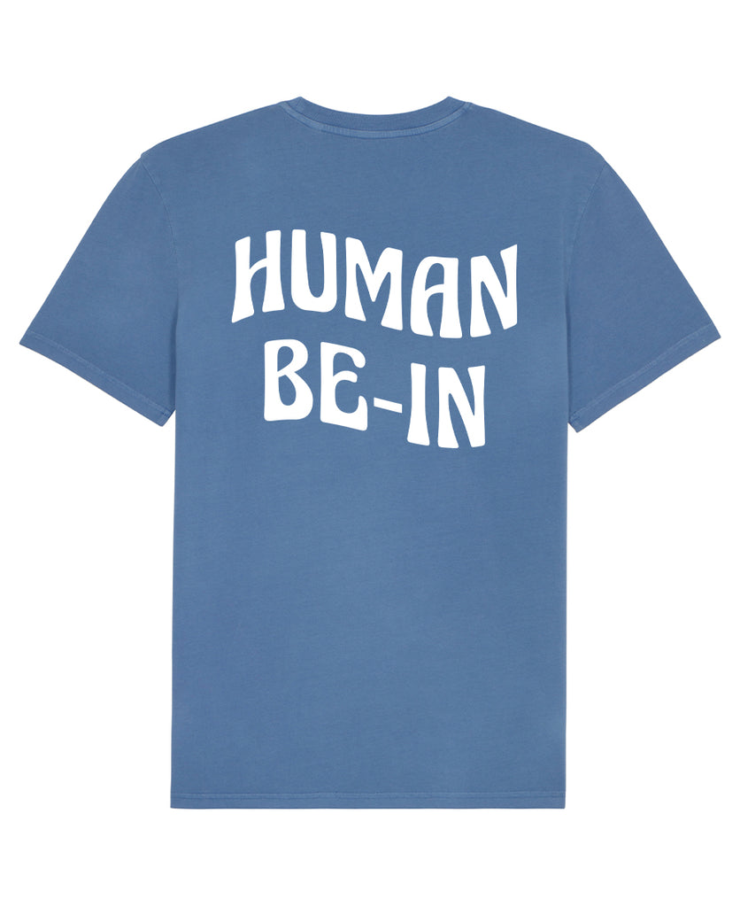 Good Morning Keith Human Be-In Vintage Blue Tee