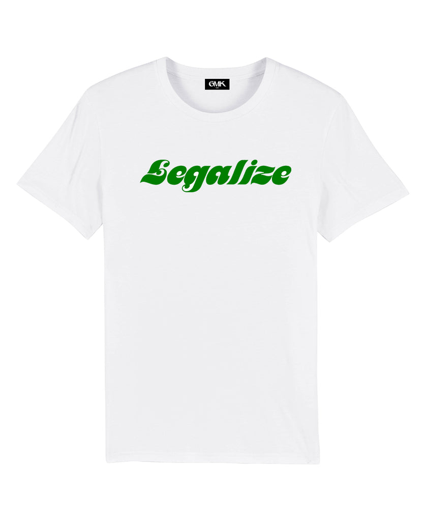 Good Morning Keith Legalize Unisex White Tee