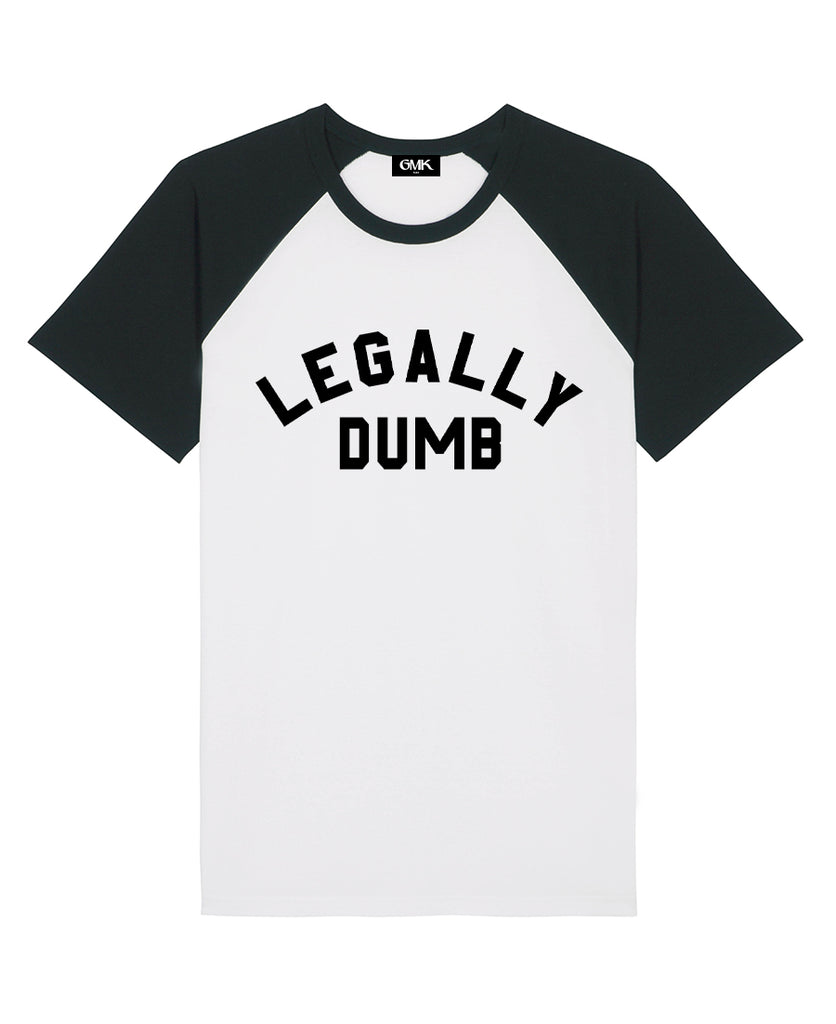 Good Morning Keith Legally Dumb Raglan Tee