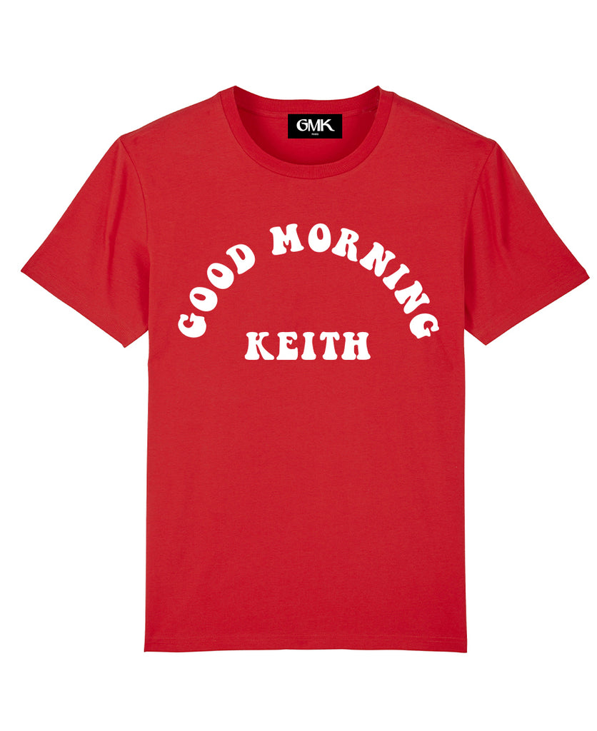 Good Morning Keith Red Unisex Keith Tee