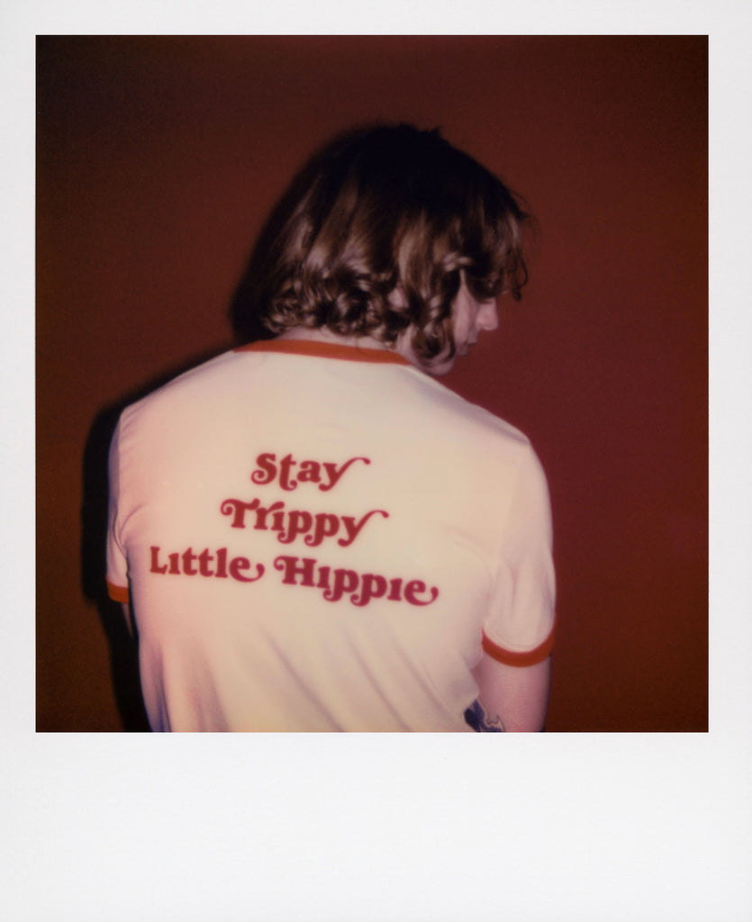Good Morning Keith Stay Trippy Little Hippie Unisex Red Ringer Tee