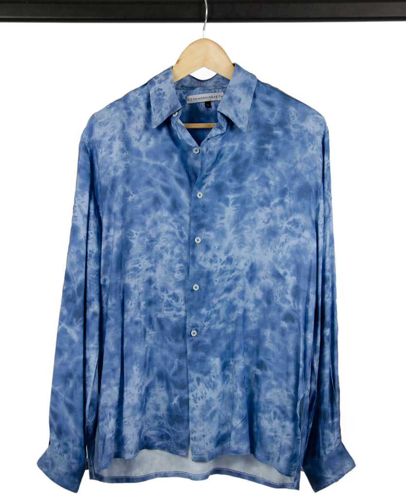 Good Morning Keith Syd Unisex Blue PrintedShirt