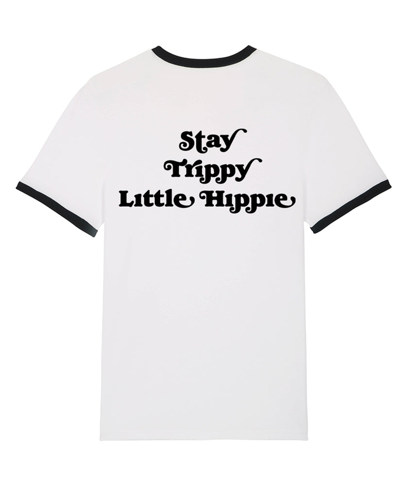 Good Morning Keith Stay Trippy Little Hippie Unisex White Ringer Tee