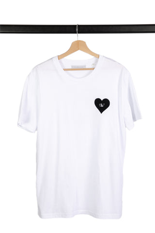 GOOD MORNING KEITH BLACK/WHITE RINGER TEE