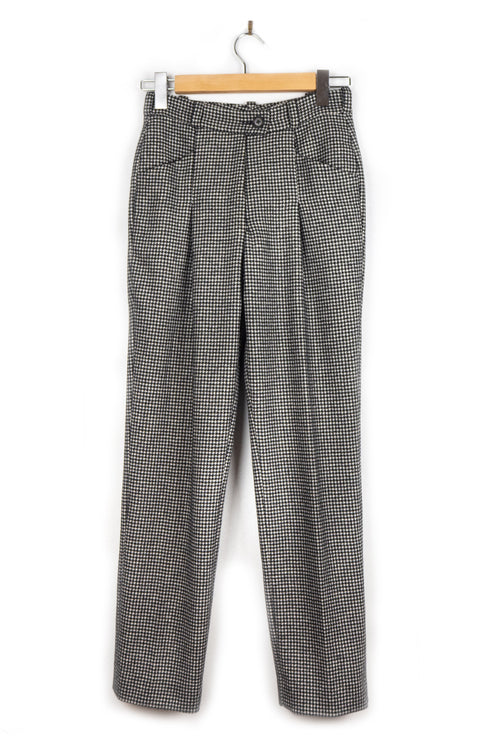Pantalon Good Morning Keith Coney vintage luxe pied de poule à inspiration sixties et seventies