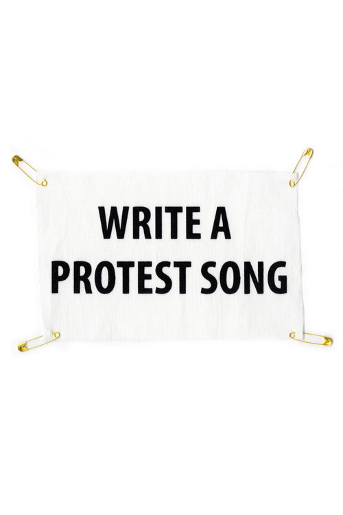 Patch Good Morning Keith en toile de coton Write A Protest Song en impression velour