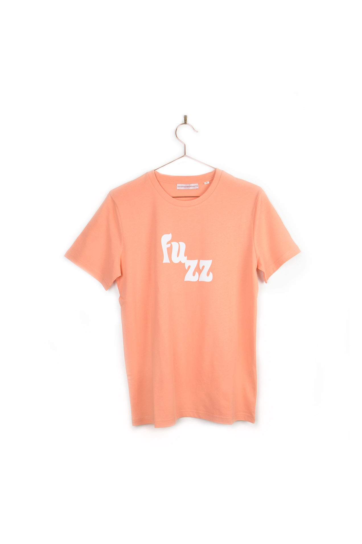 T-shirt vintage unisex Good Morning Keith Sunset Orange velour imprimé Fuzz