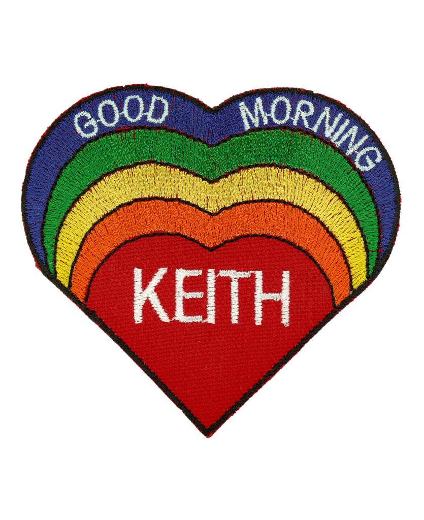 Good Morning Keith Rainbow Heart Patch