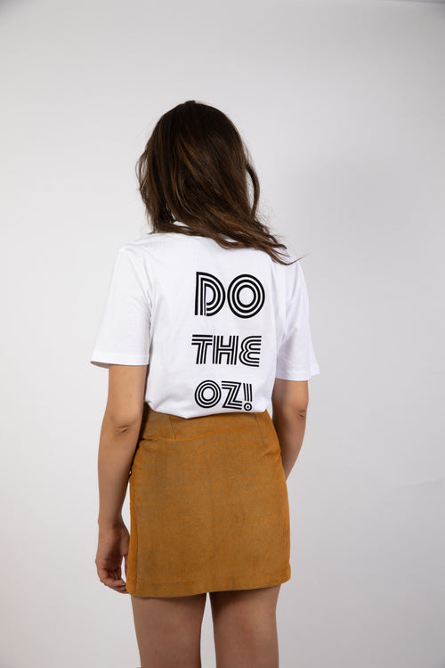 T-shirt Do The Oz! Good Morning Keith made in organic cotton and velvet printed inspired sixties seventies rock tee