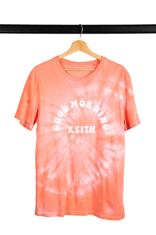 T-SHIRT TIE AND DYE ROND NOIR