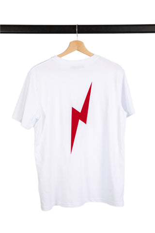 T-SHIRT RINGER BLANC/ROUGE KEITH
