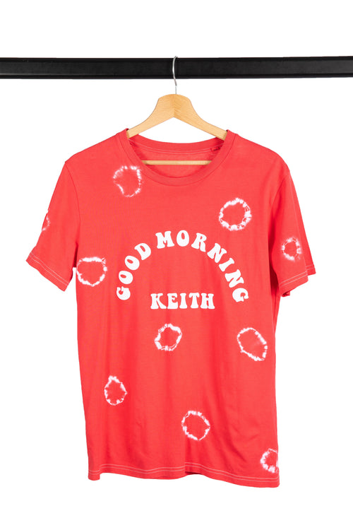 T-shirt Good Morning Keith Tie and Dye Effet Rond psychedelique sixties and seventies rock'n'roll tee