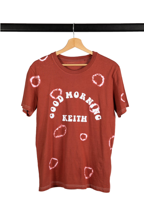 T-shirt Good Morning Keith Tie and Dye effet Rond psychedelique sixties seventies rock'n'roll tee
