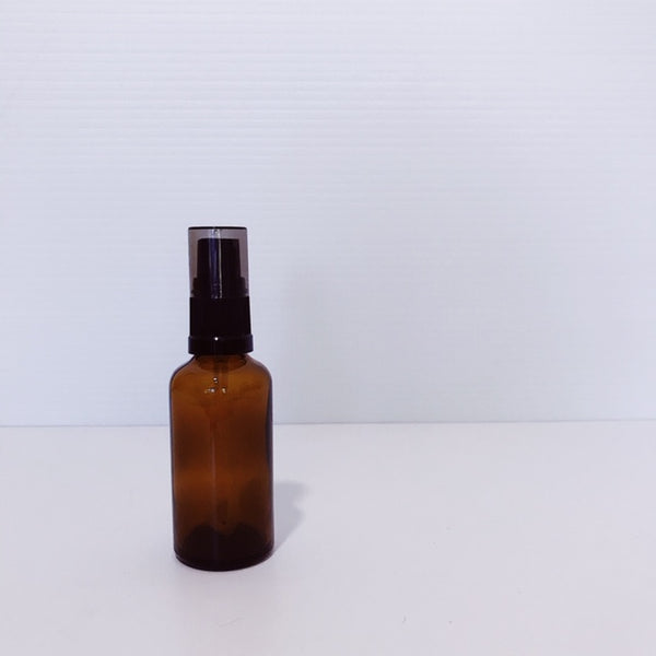 50ml amber glass bottle with serum dispenser
