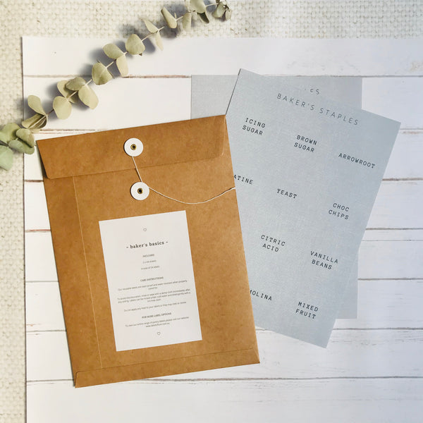 Baker's Basics - Reusable Pantry Label Pack - 2 Sheets