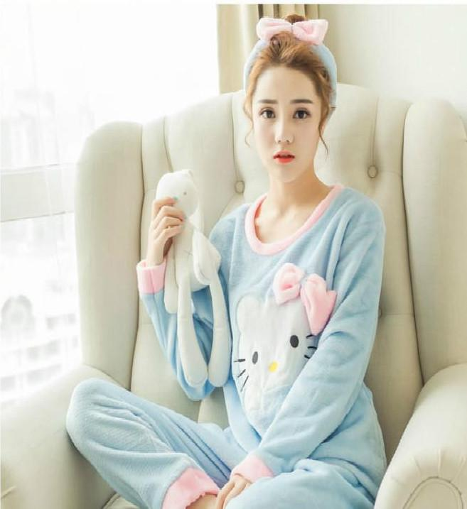 7bc1921a0 Women's pajama long pants and top Hello Kitty - Pajamas Sets - flannel |  modaatendone