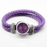 Women's Wristwatch personalised leather bracelet for Noosa Charm Beads Buttons - Fit DIY Snap Charm Watch Bracelet For Click Button
