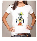 Unisex Funny T Shirt Disney Design Goofy, Tigger, Donald, Mickey heart