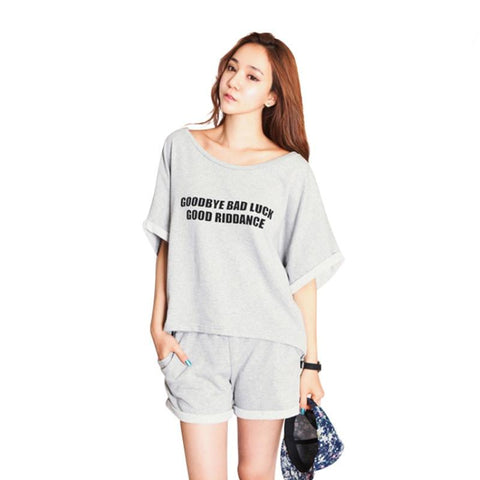 Women's pajama shorts and T Shirt 100% Cotton sleepwear short sleeve loungewear