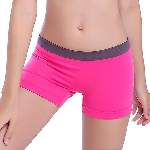 Woman workout stretch skinny waistband short pants