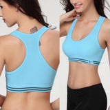 Woman cotton crop top racerback padded bralette casual yoga gym workout
